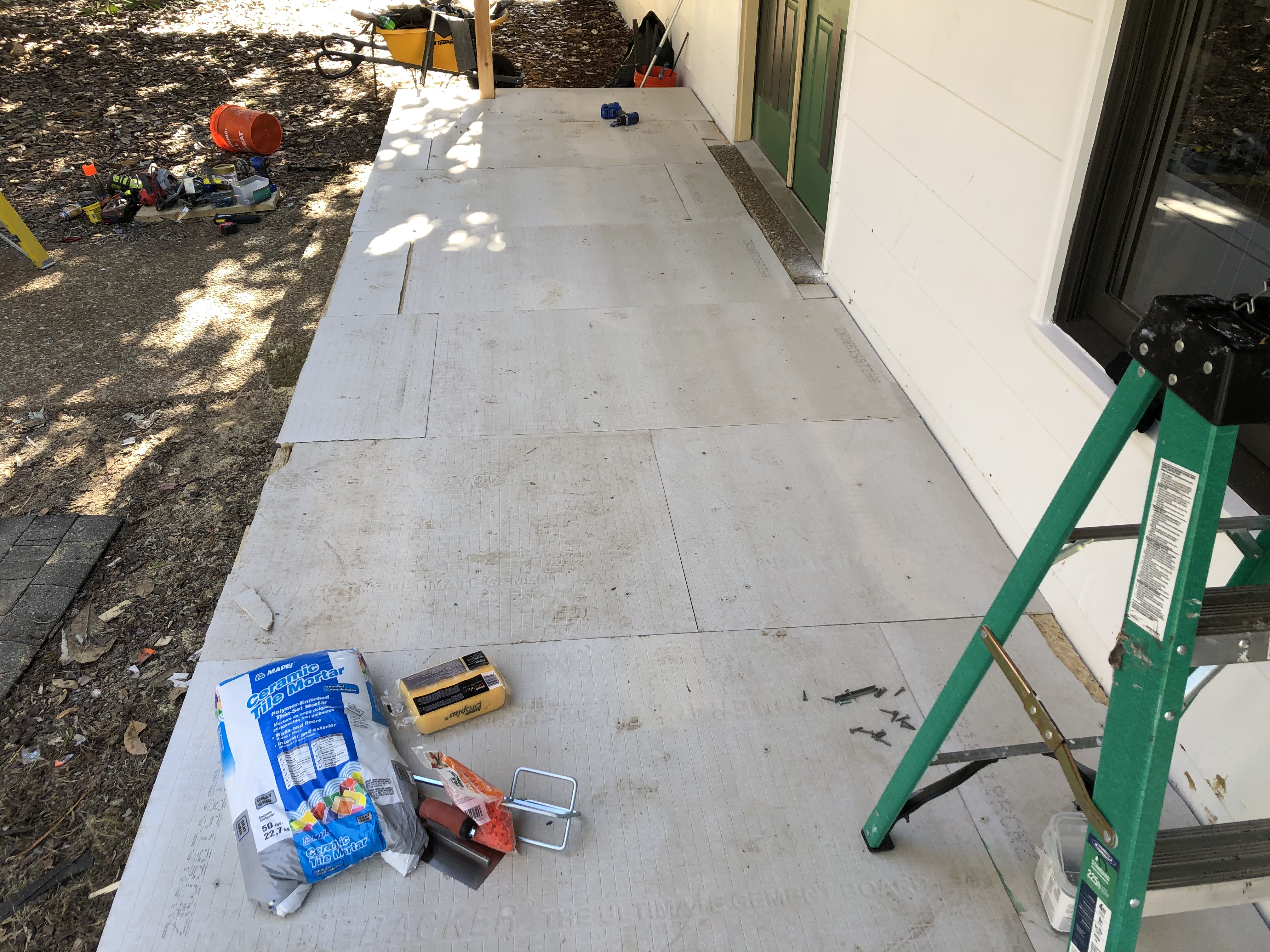 how to install brick veneer pavers