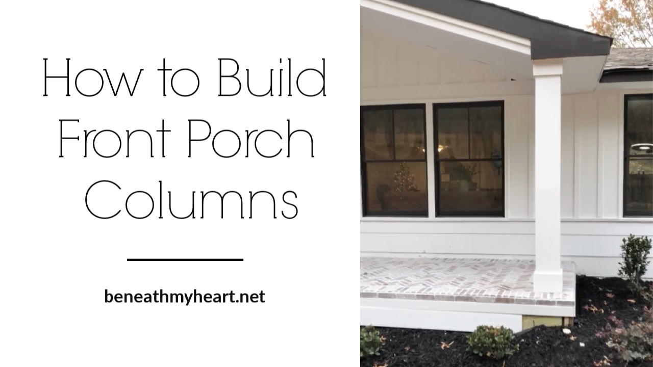 how to build front porch columns