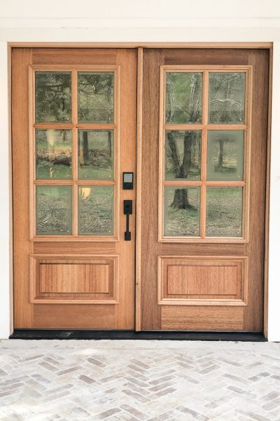 How to Install and Stain New Wood Front Doors