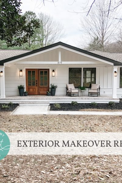 Exterior Makeover Reveal!!! {Notes from Home}