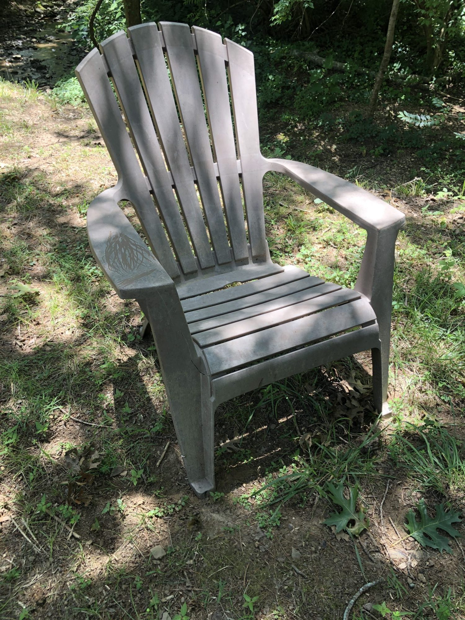DIY Spray Painted Outdoor Chair