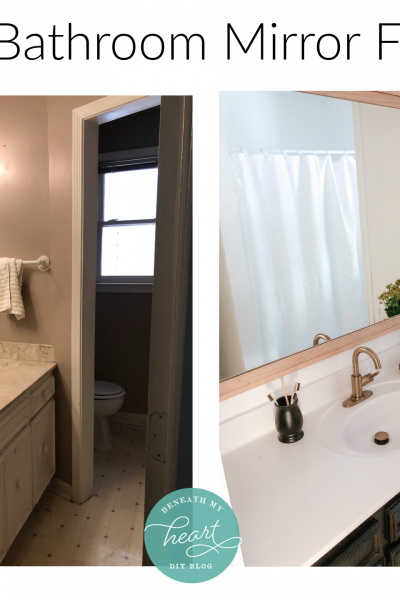DIY Hallway Bathroom Mirror Makeover!