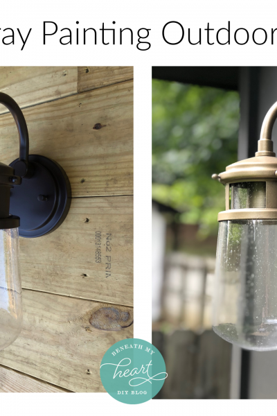 DIY Spray Painted Outdoor Lights for our Shed