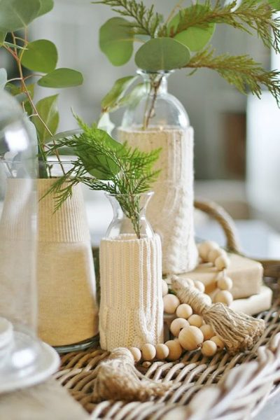 Cozy DIY Sweater Vases