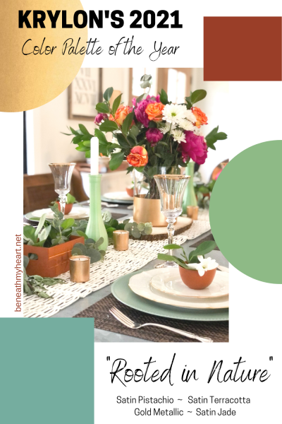 The 2021 Krylon Color Palette – DIY Tablescape