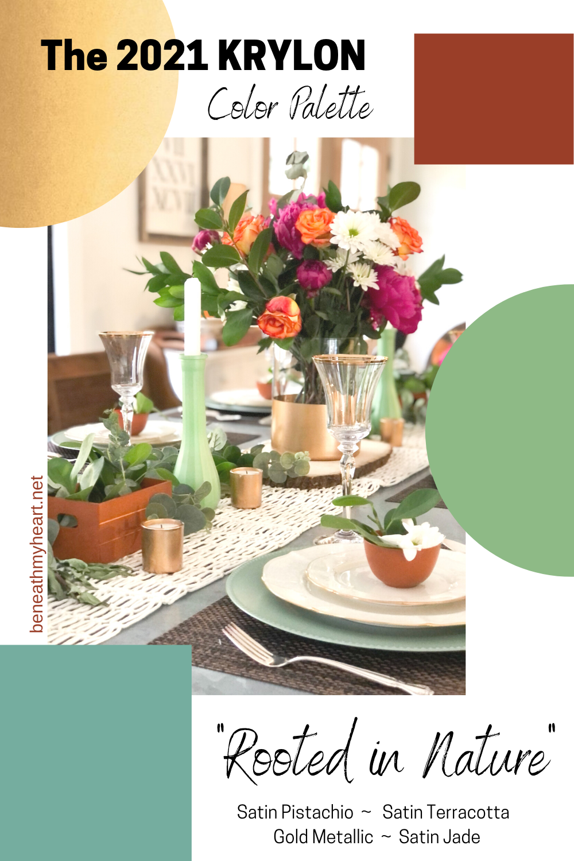 The 2021 Krylon Color Palette - DIY Tablescape