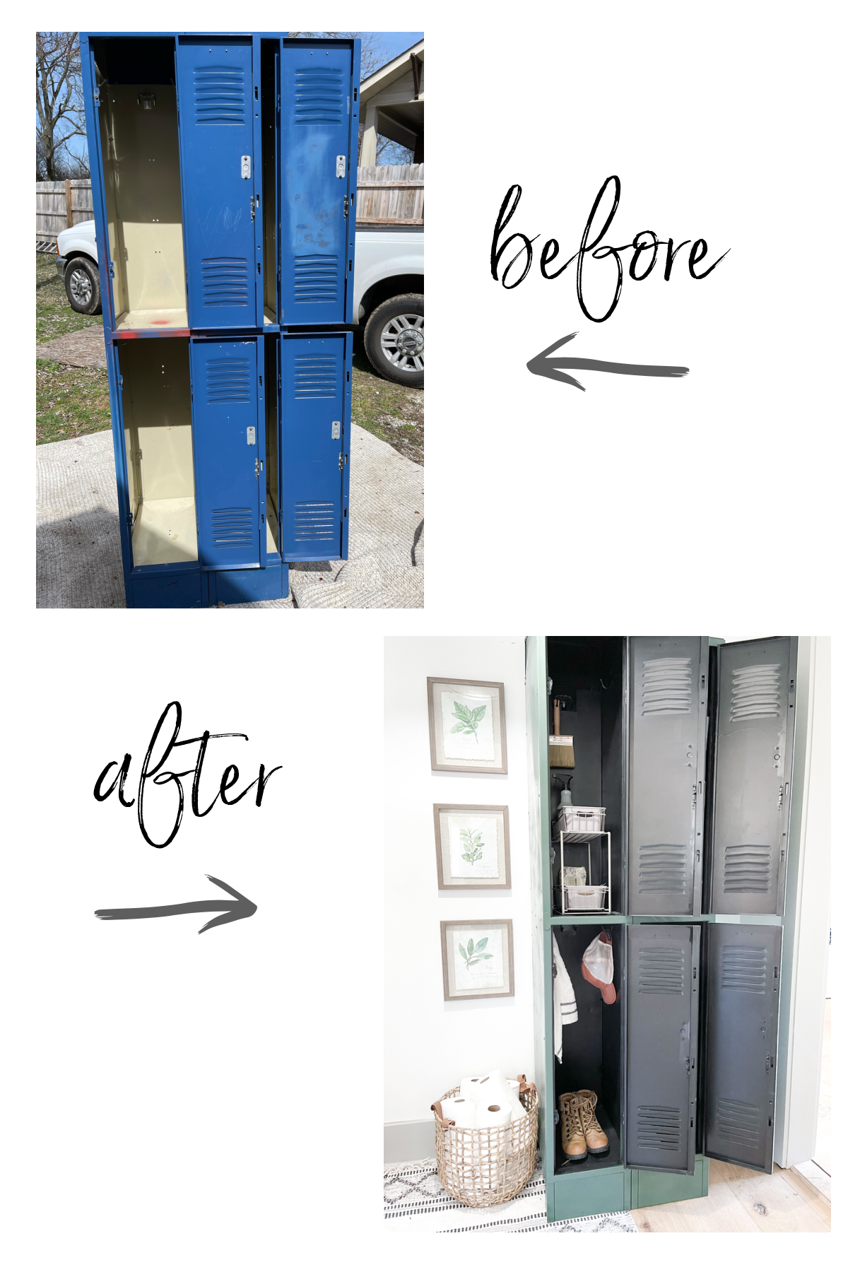 DIY SPRAY PAINTED LOCKERS