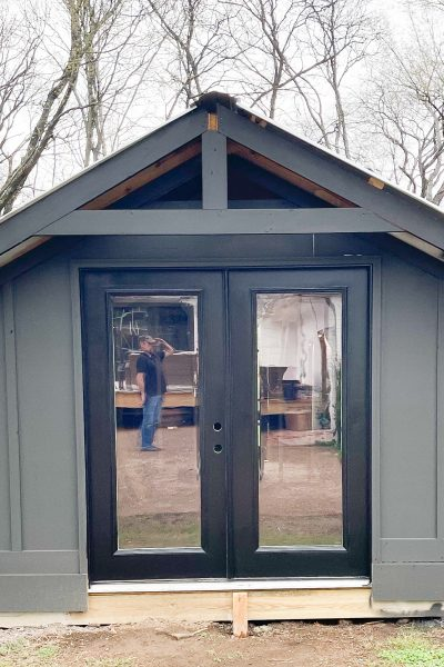 """""""She"""" Shed Update!  {We have walls and an air conditioner!}"""