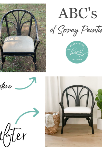 ABC's of Spray Painting! (Chair Makeover)