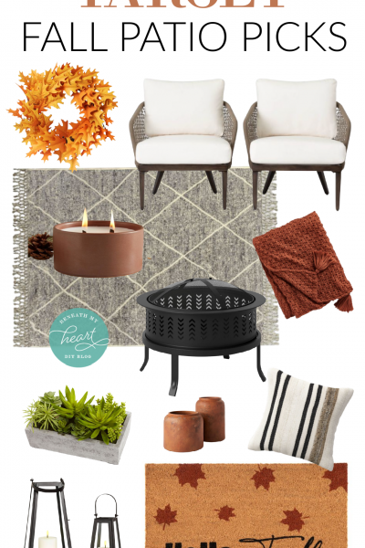 TARGET FALL PATIO PICKS! (And Sneak Peek of our New Patio Area!)